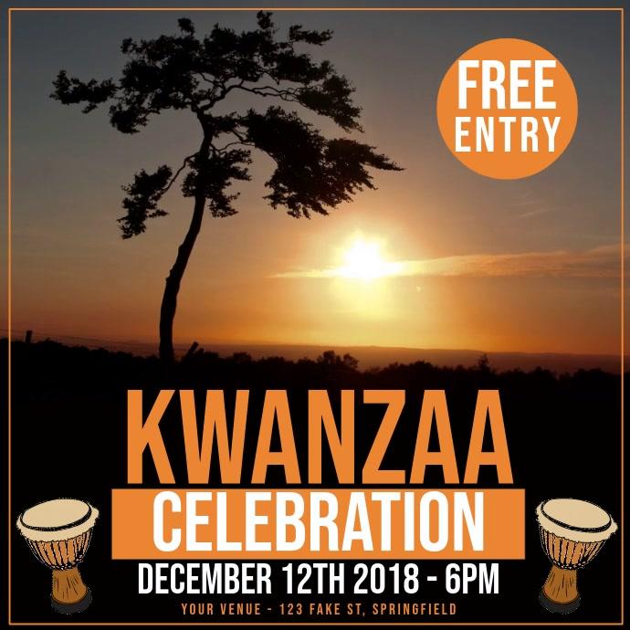 Kwanza Video Persegi (1:1) template