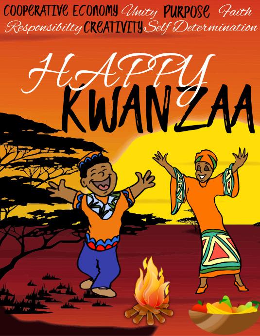 Kwanzaa, Happy Kwanzaa Pamflet (Letter AS) template