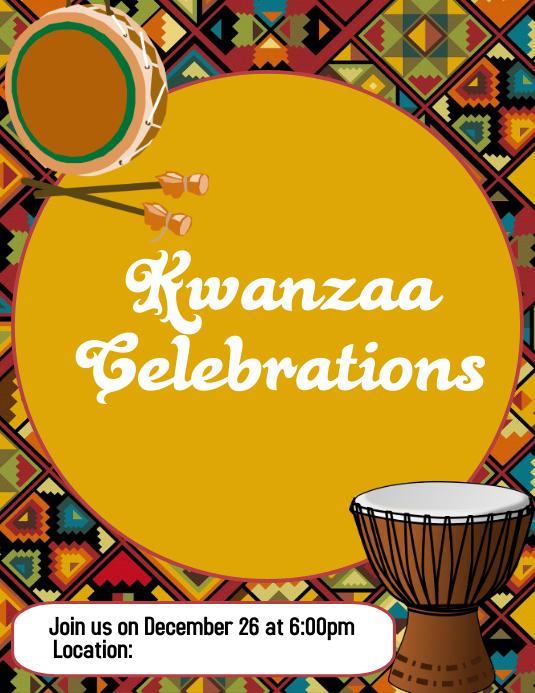 Kwanzaa, Happy Kwanzaa Flyer (US Letter) template