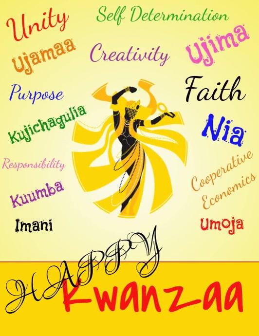 Kwanzaa, Kwanzaa Celebrations Flyer (US Letter) template