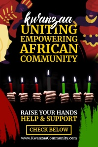 Kwanzaa African Support 2020 Template Poster