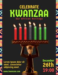 Kwanzaa Candles Event Flyer