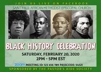 Black History Month Celebration Postcard template