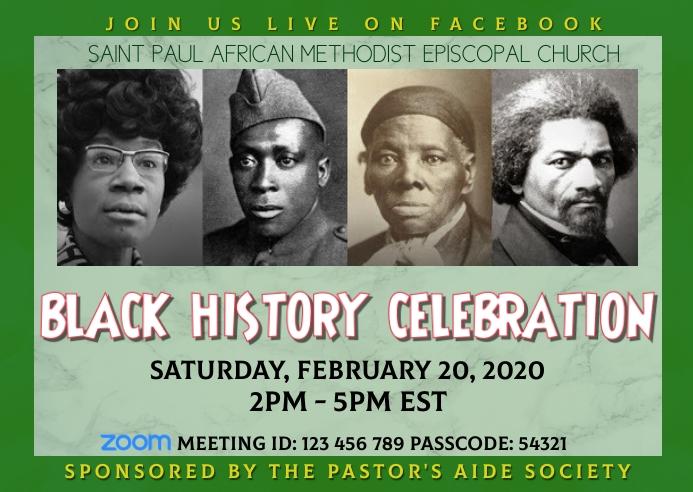 Black History Month Celebration Postal template