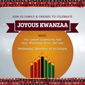 Kwanzaa Celebration Event Invitation Design