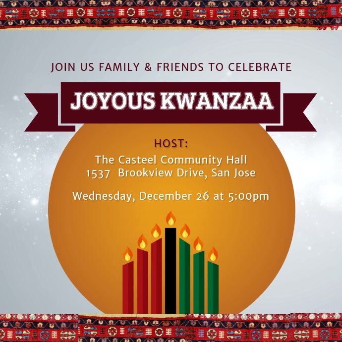 Kwanzaa Celebration Event Invitation Design Persegi (1:1) template
