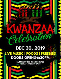 Kwanzaa Celebration Flyer template