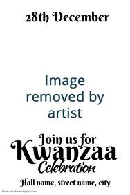 Kwanzaa celebration invite