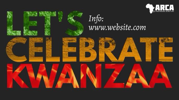 Kwanzaa celebration minimalist video ad Presentation (16:9) template