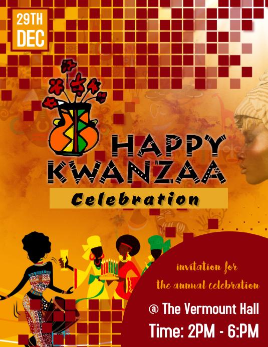 kwanzaa celebration poster flyer template. ,