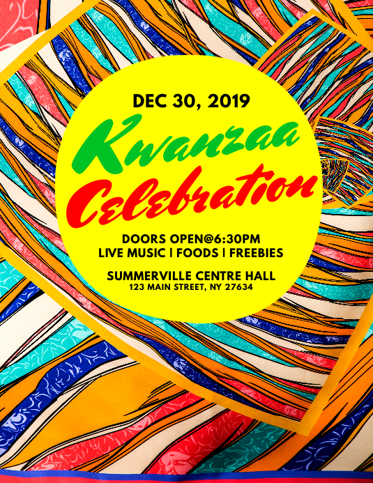 Kwanzaa Celebration Flyer Løbeseddel (US Letter) template