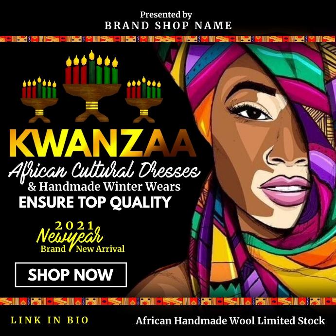 Kwanzaa Cultural Dresses 2020 Template Square (1:1)