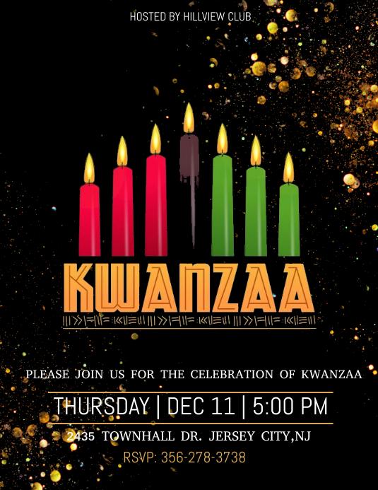 Kwanzaa Flyer (US Letter) template