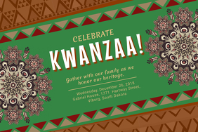 Kwanzaa Event Invitation Poster Template