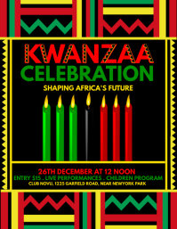 kwanzaa flyer, kwanzaa, kwanzaa party