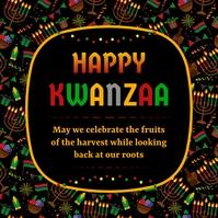 Kwanzaa Greeting Card Pos Instagram template