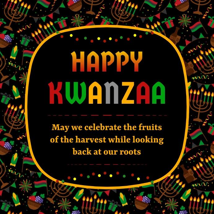 Kwanzaa Greeting Card Instagram Post template