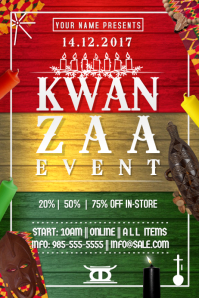 Kwanzaa Holiday Candle African Pride Winter Celebration Fest
