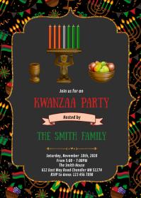 Kwanzaa party invitation