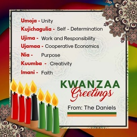 Kwanzaa Principles Video Template