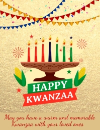 Kwanzaa Template ใบปลิว (US Letter)