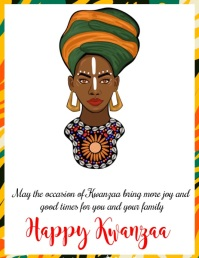 Kwanzaa Template Pamflet (Letter AS)