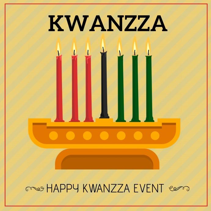 Kwanzza ,candle festival , hanukka Square (1:1) template