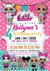 L.O.L. Surprise Doll Invite