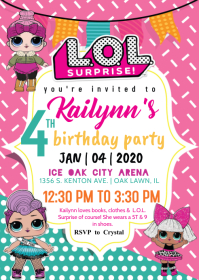 L.O.L. Surprise Invitation