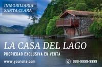 La Casa del Lago cartel de venta Poster template