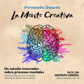 La Mente Creativa video acuarela Square (1:1) template