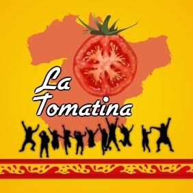 La Tomatina celebrations Instagram Post template