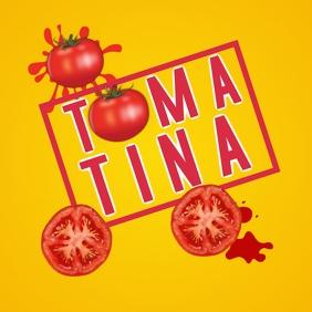 La Tomatina celebrations โพสต์บน Instagram template
