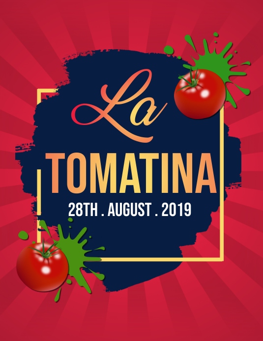 la tomatina Pamflet (Letter AS) template