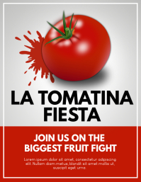la tomatina Flyer (US Letter) template