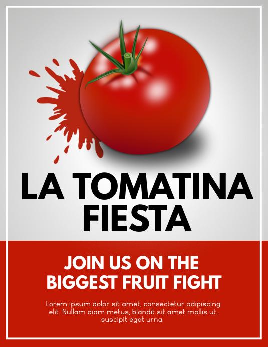 la tomatina Flyer (US Letter) template