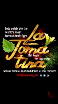 La Tomatina event video Template