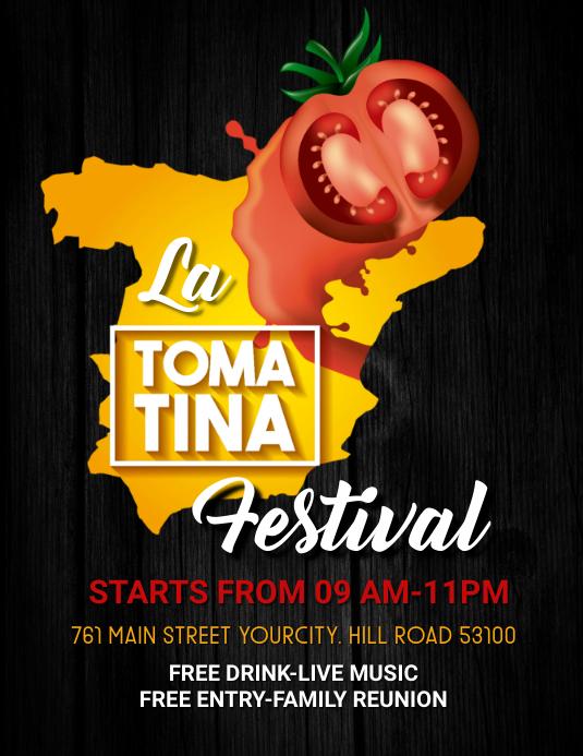 La tomatina festival,retail,event, festa Flyer (US Letter) template