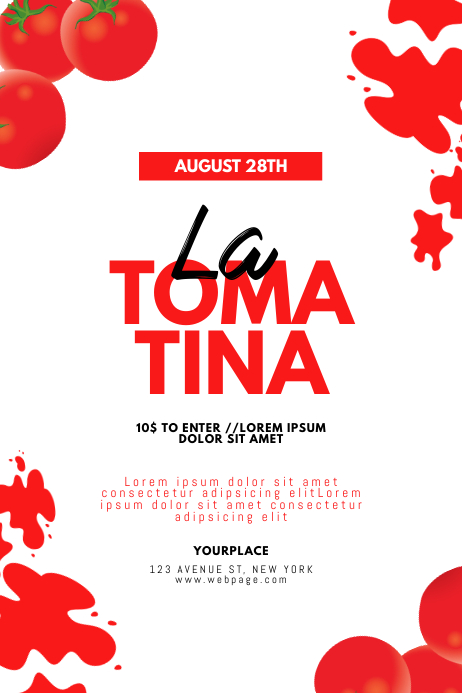 La Tomatina Festival Flyer Design Template