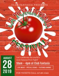 La Tomatina Festival Flyer