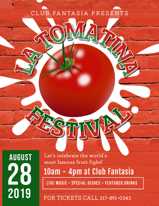 La Tomatina Festival Flyer template