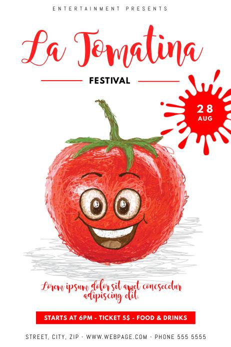La Tomatina Festival Flyer Template Poster
