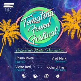 La Tomatina Festival Square Video template