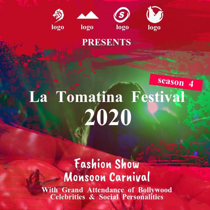 La Tomatina Festival Square Video