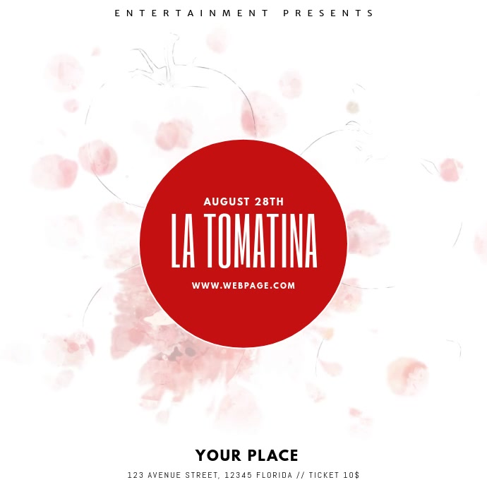 La tomatina Festival Video template Pos Instagram