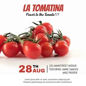 LA TOMATINA FESTIVAL VIDEO TEMPLATE Square (1:1)
