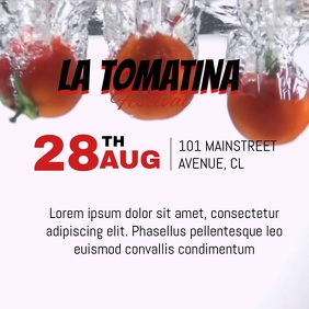 LA TOMATINA FESTIVAL VIDEO TEMPLATE Kwadrat (1:1)