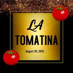 La tomatina video template สี่เหลี่ยมจัตุรัส (1:1)