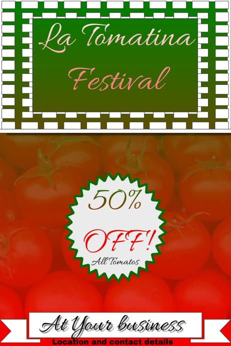 La tomatina flyer/poster/ad