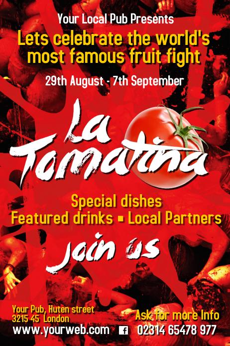 La Tomatina Poster Templates | PosterMyWall